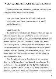 1 Predigt zu 1 Timotheus 4,4+5 (Erntedank, 7.10.2012) Gnade sei ...