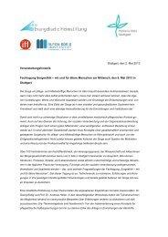 Stuttgart, den 2. Mai 2013 Veranstaltungshinweis Fachtagung ...