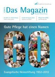 Das Magazin 1/2012 - Evangelische Heimstiftung