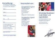 Veranstaltet von: Anmeldung: - Evangelische Jugend der Pfalz