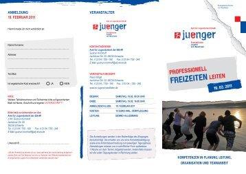 freizeiten - Evangelische Jugend von Westfalen