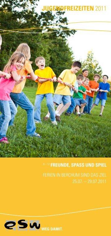 JUGENDFREIZEITEN 2011 - Evangelische Jugend von Westfalen