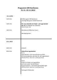 Programm DJR Konferenz 21.-22.11.12 - und Jugendarbeit der EKHN
