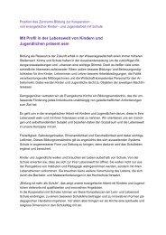Position des Zentrums Bildung zur Kooperation von evangelischer ...