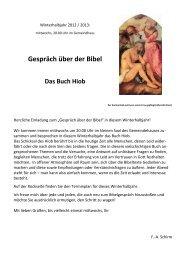 Gespräch über der Bibel Das Buch Hiob
