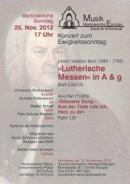 Lutherische Messen« in A & g
