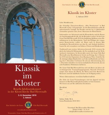 Klassik im Kloster