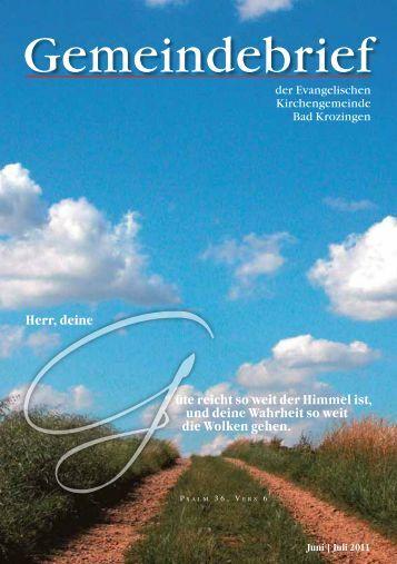 Gemeindebrief Juni/Juli 2011 - Evangelische Kirchengemeinde Bad ...