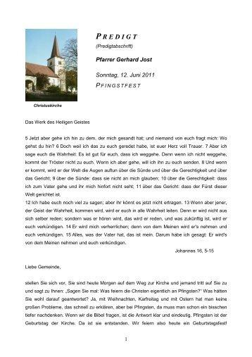 Sonntag, den 12. Juni 2011 Pfingsten - Evangelische ...