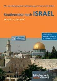 Studienreise nach ISrael