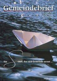 Gemeindebrief Juni/Juli 2012 - Evangelische Kirchengemeinde Bad ...