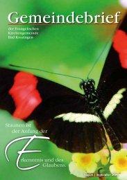 Gemeindebrief August/September 2009 - Evangelische ...