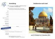 Studienreise Israel II 2013 - Evangelische Kirchengemeinde Bad ...