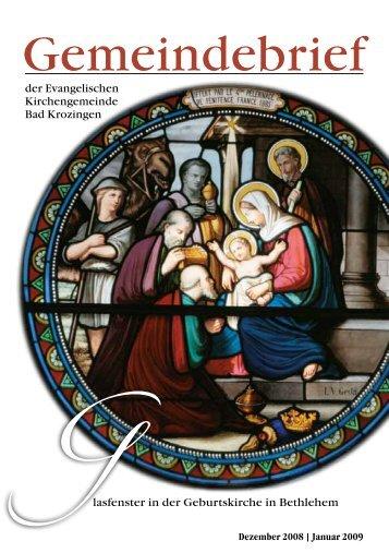 Gemeindebrief Dezember 2008/Januar 2009 - Evangelische ...