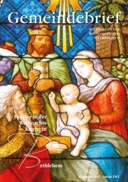 Gemeindebrief Dezember 2011/Januar 2012 - Evangelische ...