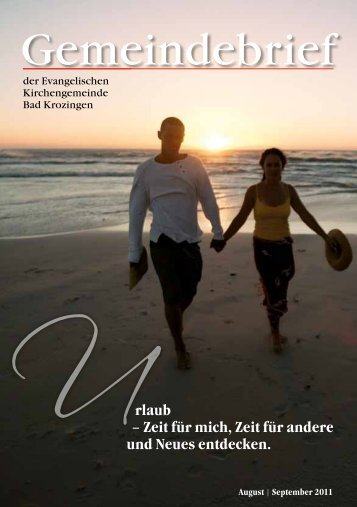 Gemeindebrief August/September 2011 - Evangelische ...