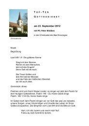 am 23. September 2012 - Evangelische Kirchengemeinde Bad ...