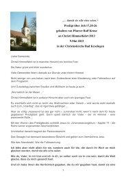 Christi Himmelfahrt 9. Mai 2013 - Evangelische Kirchengemeinde ...