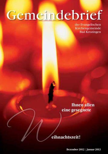 Gemeindebrief Dezember 2012/Januar 2013 - Evangelische ...