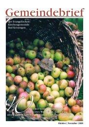 Gemeindebrief Oktober/November 2008 - Evangelische ...