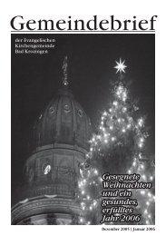 Gemeindebrief Dezember 2005/Januar 2006 - Evangelische ...
