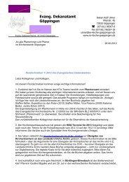 Rundschreiben 1/2012 - Evang. Kirchenbezirk Göppingen