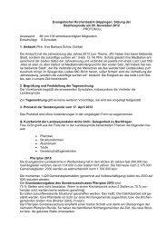 Protokoll vom 5.11.2012 - Evang. Kirchenbezirk Göppingen