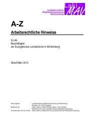 A - Z, Arbeitsrechtliche Hinweise - Evangelischer Kirchenbezirk ...