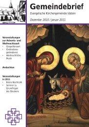 Gemeindebrief, Ausgabe Dezember 2010 und Januar 2011