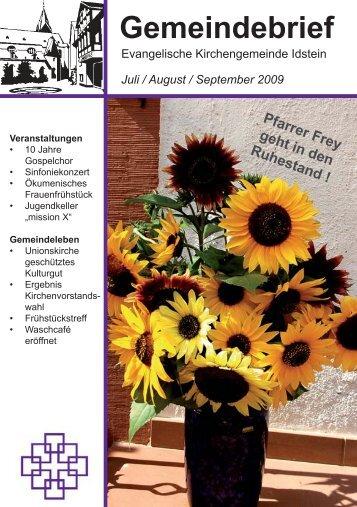 Gemeindebrief, Ausgabe Juli/August/September 2009