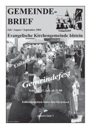 Gemeindebrief, Ausgabe Juli/August/September 2004