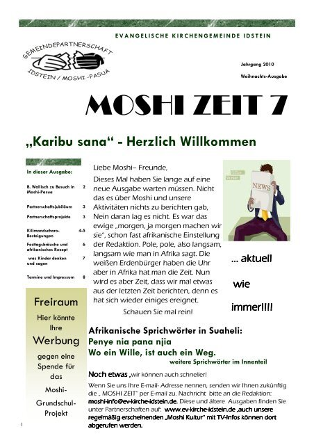 MOSHI ZEIT 7 - Evangelische Kirchengemeinde Idstein