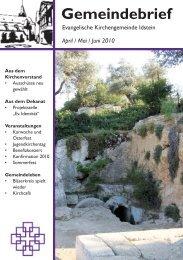 GB 2010 04-06 - Evangelische Kirchengemeinde Idstein