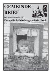 Gemeindebrief, Ausgabe Juli/August/September 2005