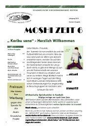 MOSHI ZEIT 6 - Evangelische Kirchengemeinde Idstein