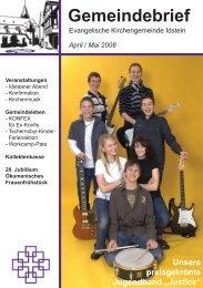 Gemeindebrief, Ausgabe April/Mai 2008 - Evangelische ...