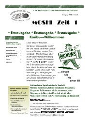 Moshi Zeit Nr. 1 - Evangelische Kirchengemeinde Idstein