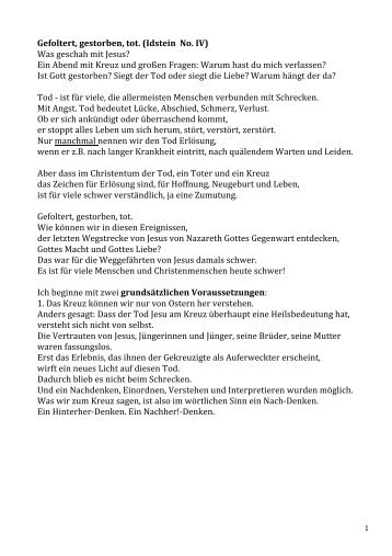 Jesus Idstein IV - Evangelische Kirchengemeinde Idstein