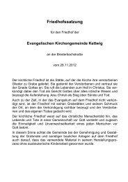 Link, zur Friedhofssatzung - Evangelischen Kirchengemeinde Kettwig