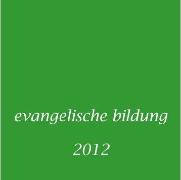 Bildungsflyer 2012 Fassung vom 8. Januar - Ev. Kirchenkreis ...