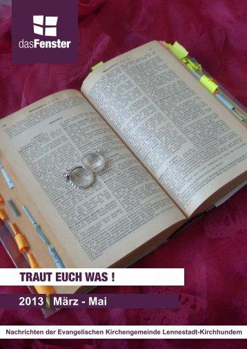 TRAUT EUCH WAS ! - Ev. Kirchenkreis Lüdenscheid Plettenberg
