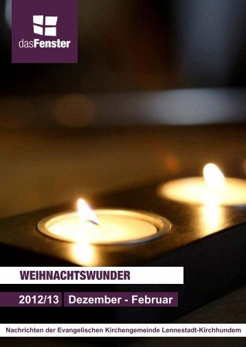 WEIHNACHTSWUNDER - Ev. Kirchenkreis Lüdenscheid Plettenberg