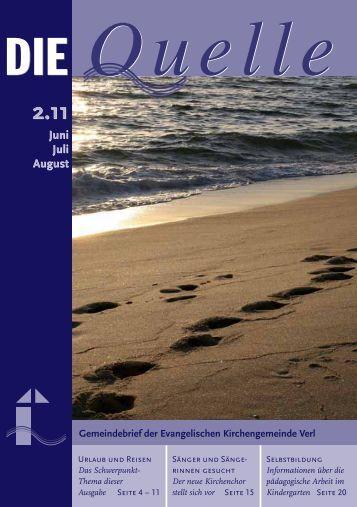 Juni Juli August Juni Juli August - Evangelische Kirchengemeinde ...