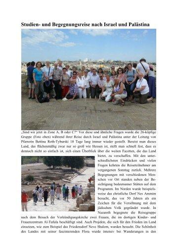 Studien- und Begegnungsreise nach Israel und Palästina