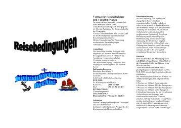 Vertrag für Reiseteilnehmer und Teilnehmerinnen - Ev ...