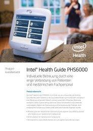 Intel Health Guide PHS 6000 DE - Asklepios