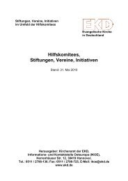 Hilfskomitees, Stiftungen, Vereine, Initiativen - Konvent der ...