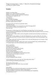 Predigt über Kaiphas am 17. März 2013