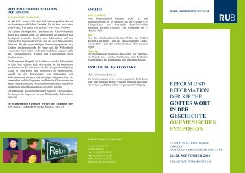 reform und reformation der kirche gottes wort in der geschichte ...