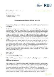 Lehrveranstaltungen im Wintersemester 2011/2012 - Evangelisch ...